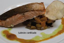 salmón confitado CACT