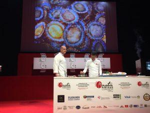 Germán Blanco, de La Tegala, en el 'IV Miniature Pintxos Congress by Euskadi Gastronomika'