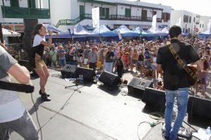 La música también estuvo presente en Playa Blanca
