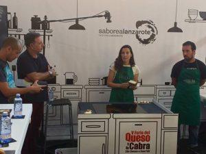 Arminda García en la cata de quesos