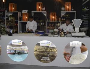 Los chef Santana y Perdomo en pleno showcooking en FEAGA.