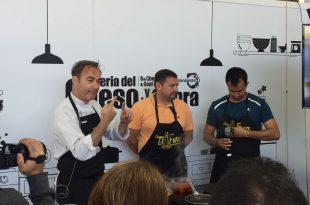 Orlando Ortega en los talleres de la Feria del Queso y la Cabra