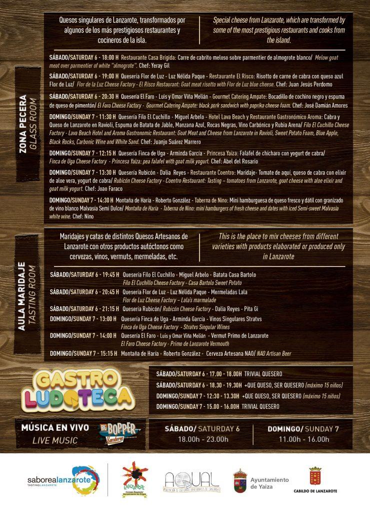 Programa de la VII Feria del Queso y la cabra de Playa Blanca