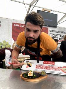 kevin díaz, ganador del concurso de ensaladilla canaria