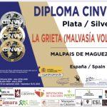 La Grieta Malvasía Volcánica obtiene la Medalla de Plata en CINVE 2020
